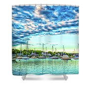Falmouth Harbor Cape Cod Shower Curtain