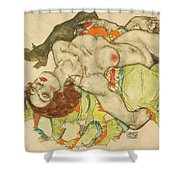 Female Lovers Shower Curtain