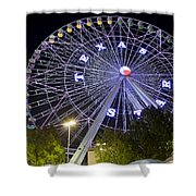 Ferris Wheel At The Texas State Fair In Dallas Tx Shower Curtain