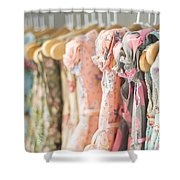 Floral Pattern Young Girl Dresses In Shop Shower Curtain