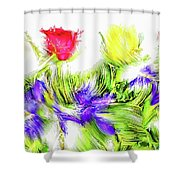 Flower Frame Border Shower Curtain