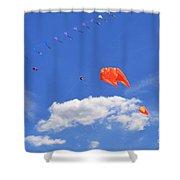 Flying Kite Festival  Shower Curtain