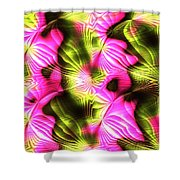 Fractal Modern Art Seamless Generated Texture Shower Curtain