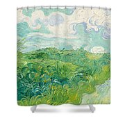 Green Wheat Fields, Auvers Shower Curtain