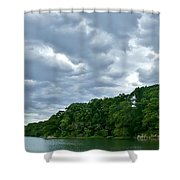 Green's Hill And The Bass River Shower Curtain