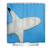 Grey Reef Shark Shower Curtain