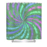 Grunge Swirl Shower Curtain
