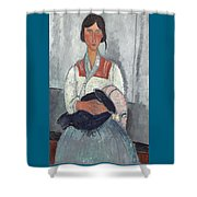 Gypsy Woman With Baby Shower Curtain