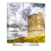 Hadleigh Castle Art Shower Curtain