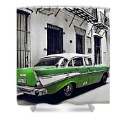 Havana, Cuba - Classic Car Shower Curtain