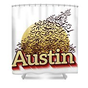 Bats Over Austin Shower Curtain
