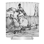 Horserider, C1840 Shower Curtain