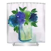 4 Hydrangeas Shower Curtain