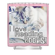 I Love Reading Books Shower Curtain