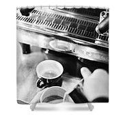 Italian Espresso Expresso Coffee Making Preparation With Machine Shower Curtain