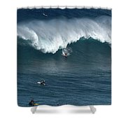 Jaws Wave Shower Curtain