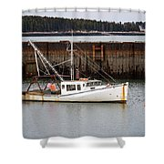Jonesport, Maine  Shower Curtain