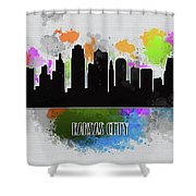 Kansas City Skyline Silhouette Shower Curtain