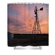 Kansas Sunset Shower Curtain