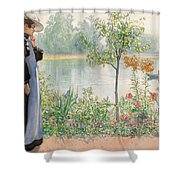 Karin By The Shore Shower Curtain