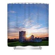 Knowlton Church - England Shower Curtain