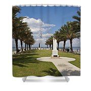 Lake Monroe At The Port Of Sanford Florida Shower Curtain