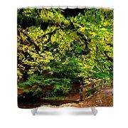 Landscape Acrylic Painting Shower Curtain