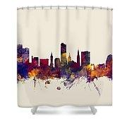 Leicester England Skyline Shower Curtain