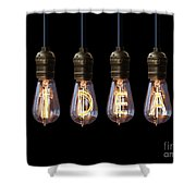 Light Bulb Background Shower Curtain