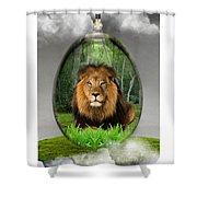 Lion Art Shower Curtain