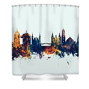 Ljubljana Solvenia Skyline Shower Curtain