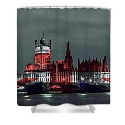 London Cityscape With Big Ben Shower Curtain