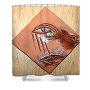 Loss - Tile Shower Curtain