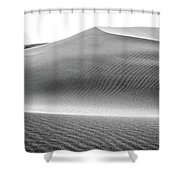 Magnificent Sandy Waves On Dunes At Sunny Day Shower Curtain