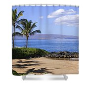 Makena, Secret Beach Shower Curtain