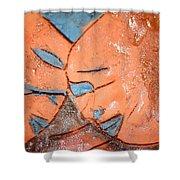 Mask - Tile Shower Curtain