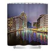 Milwaukee Wisconcin City And Street Scenes Shower Curtain