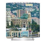 Monte Carlo Cityscape Shower Curtain