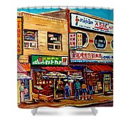 Montreal Paintings Shower Curtain