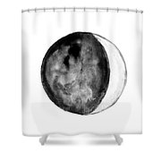 Moon Phase Shower Curtain