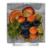 Multicolor Fruits Shower Curtain