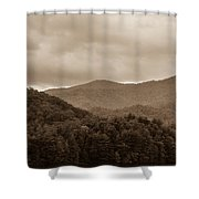 Nature Landscapes Around Lake Santeetlah North Carolina Shower Curtain