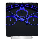 Neon Watch Face Shower Curtain
