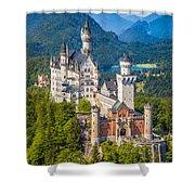 Neuschwanstein Fairytale Castle Shower Curtain