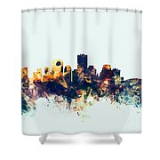New Orleans Louisiana Skyline Shower Curtain