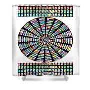 Novino Sale Fineart Chakra Mandala Round Circle Inspirational Healing Art At Fineartamerica.com By N Shower Curtain