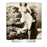 Nude Posing, C1900 Shower Curtain