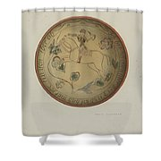 Pa. German Plate Shower Curtain