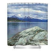 Panoramic View Of Ushuaia, Tierra Del Shower Curtain