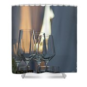 Party Setting With Bokeh Background Shower Curtain